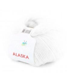 Włóczka Alaska kolor 01 biały