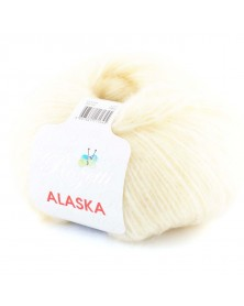 Włóczka Alaska kolor 02 ecru