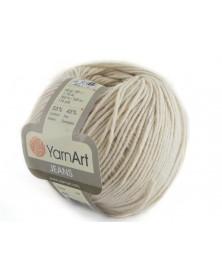 Włoczka Jeans Yarn Art kolor jasny beż 05