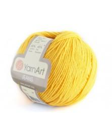 Włoczka Jeans Yarn Art kolor żółty 35