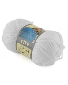 Włóczka City kolor 208 biały