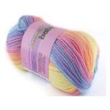 Włóczka Sweet baby 306 niebieski, fioletowy, różowy, brzoskwiniowy, żółty