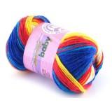 Włóczka Sweet Baby 308 niebieski, czerwony, żółty, tuskus, biały