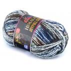 Włóczka JoyFull Colour 06 biały, brąz, zielony, niebieski