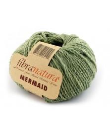 Włóczka Mermaid kolor zielony miętowy melanż 40611