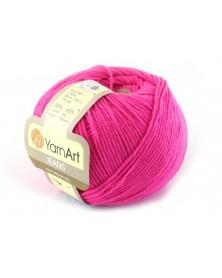 Włoczka Jeans Yarn Art kolor róż 59 NEON