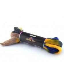 Włóczka Flarence Color 800-08 szafir,czarny,ecru, żółty, beż