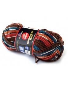 Włóczka Everyday Colors Worsted kolor 10 odcienie turkusu, brązu, koralu,pomarańczowego, ecru