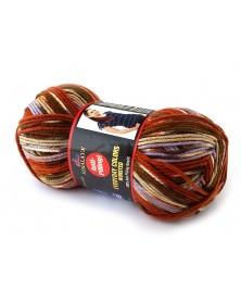 Włóczka Everyday Colors Worsted kolor 11 odcienie rudości, brązu, beżu, fioletu
