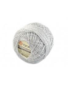 Kordonek Camellia kolor srebrny ze srebrną nitką 411
