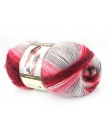 Angora Active kolor 841 odcienie szarości, borda i różu
