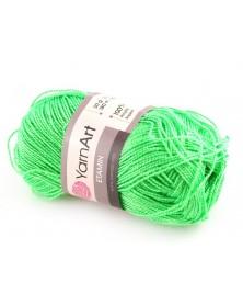 Włóczka Etamin Yarn Art kolor neonowy zielony 457