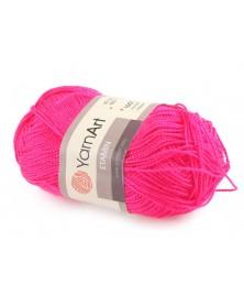 Włóczka Etamin Yarn Art kolor neonowy różowy 460