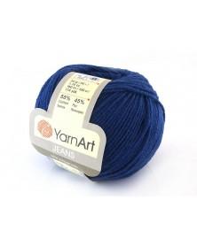 Włoczka Jeans Yarn Art kolor soczysty granat 54