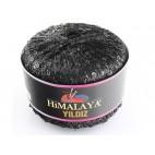 Włóczka Yildiz kolor czarny z czarnymi cekinami