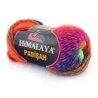 Włóczka Padisah kolor 20 fiolet- niebeiski- odblaskowa zieleń-odblaskowy pomarańcz