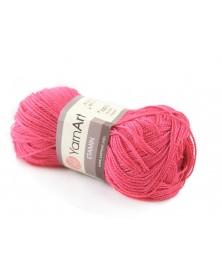 Włóczka Etamin Yarn Art kolor ciemny róż 445