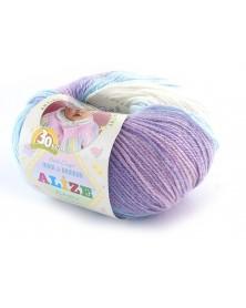 Włóczka Baby Wool Batik kolor 3566 ecru, błęktiny, wrzosowy