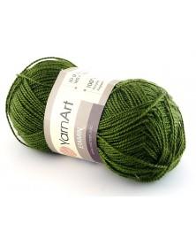 Włóczka Etamin Yarn Art kolor ciemna oliwka  444