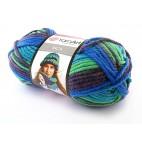Włóczka Inca kolor 658 zielony, fioletowy, niebieski
