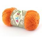 Włóczka Bella kolor 487 pomarańczowy