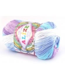 Włóczka Miss Batik kolor 3720 wrzos turkus niebieski
