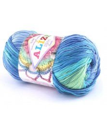 Włóczka Miss Batik kolor 3721 niebieski turkus mięta