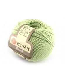 Włoczka Jeans Yarn Art kolor miętowa zieleń 11