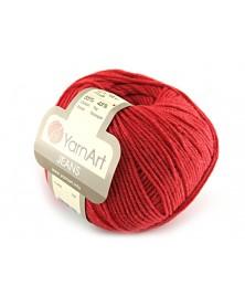 Włoczka Jeans Yarn Art kolor czerwony 26