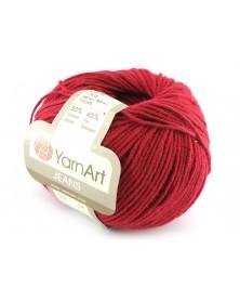 Włoczka Jeans Yarn Art kolor czerwień malinowa 51