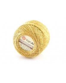Kordonek Camellia kolor złoty  ze srebrna nitką 419