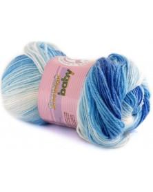 Włóczka Sweet Baby 314 biały z odcieniami niebieskiego
