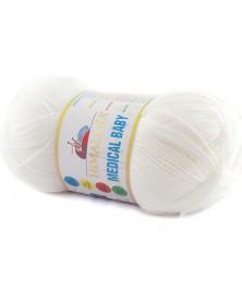Włóczka Medical Baby kolor 01 biały