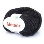 Włóczka Meteor 01 czarny srebro