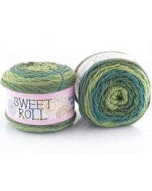 Włóczka Sweet Roll 08 odcienie zieleni