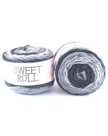 Włóczka Sweet Roll 10 odcienie szarości z grafitem