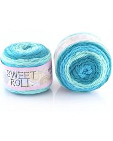 Włóczka Sweet Roll 12 odcienie turkusów