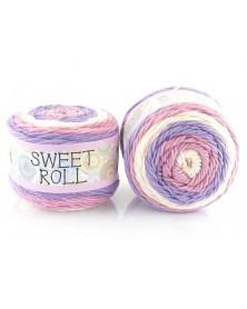 Włóczka Sweet Roll 24 odcienie fioletów różu ecru