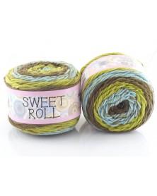 Włóczka Sweet Roll 26 odcienie zieleni i niebieskiego