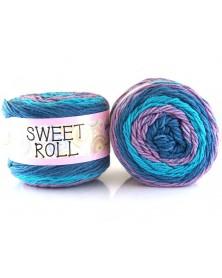 Włóczka Sweet Roll 14 odcienie fioletów i niebieskiego