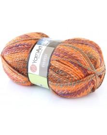 Włóczka Everest kolor 7047 pomarańcz, turkus, fiolet