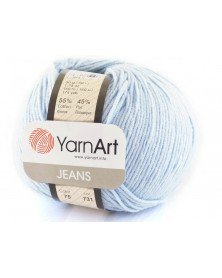 Włoczka Jeans Yarn Art kolor błękitny 75