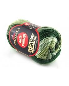 Włóczka Everyday Rengarenk kolor 05 odcienie zieleni