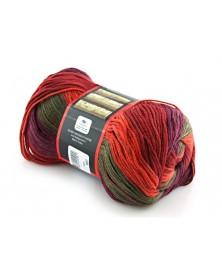 Włóczka Everyday Rengarenk kolor 03 odcienie czerwieni zieleni fioletów