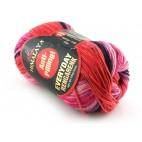 Włóczka Everyday Rengarenk kolor 11 odcienie fioletów różu czerwieni