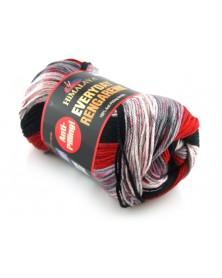 Włóczka Everyday Rengarenk kolor 09 odcienie czerwieni szarości czarnego