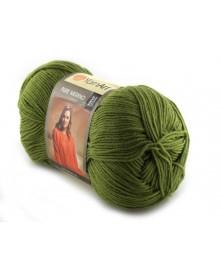 Pure Merino Yarn Art kolor zielony groszek 2068