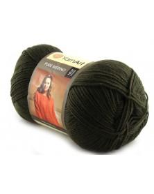 Pure Merino Yarn Art kolor ciemna zieleń 2072