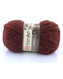 Włóczka Shetland kolor bordowy brąz melanż 521