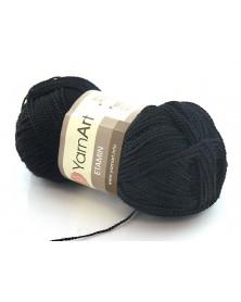 Włóczka Etamin Yarn Art kolor czarny 422